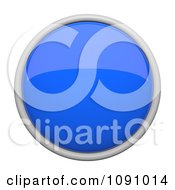 Clipart 3d Shiny Blue Circular Icon Button Royalty Free CGI Illustration by Leo Blanchette