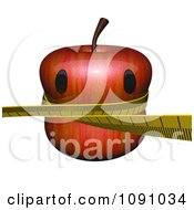 Clipart 3d Weight Loss Apple Royalty Free CGI Illustration