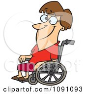 Clipart Smiling Woman In A Wheelchair Royalty Free Vector Illustration