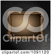 Clipart 3d Wooden Frame Plaque Over Perforated Metal Royalty Free CGI Illustration