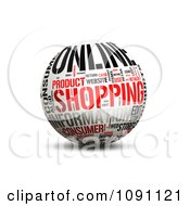 Clipart 3d Online Shopping Word Globe Royalty Free CGI Illustration