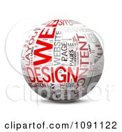 Clipart 3d Web Design Word Globe Royalty Free CGI Illustration by MacX #COLLC1091122-0098