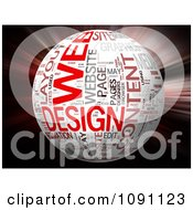 Clipart 3d Web Design Word Globe And Red Blur Royalty Free CGI Illustration