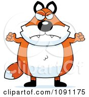 Clipart Mad Chubby Fox Royalty Free Vector Illustration