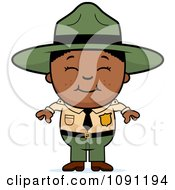 Clipart Happy Black Forest Ranger Boy Royalty Free Vector Illustration by Cory Thoman