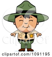 Clipart Happy Asian Forest Ranger Boy Royalty Free Vector Illustration by Cory Thoman