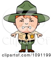 Clipart Mad Forest Ranger Boy Royalty Free Vector Illustration by Cory Thoman