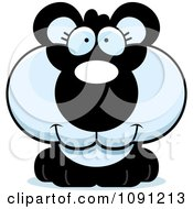Clipart Cute Panda Royalty Free Vector Illustration by Cory Thoman