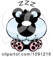 Clipart Cute Sleeping Panda Royalty Free Vector Illustration