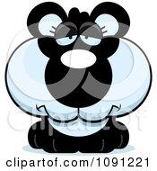 Clipart Cute Depressed Panda Royalty Free Vector Illustration