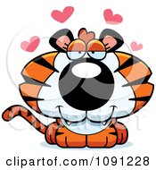 Clipart Cute Loving Tiger Royalty Free Vector Illustration