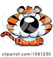 Clipart Cute Dumb Tiger Royalty Free Vector Illustration