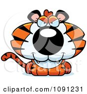 Clipart Cute Evil Tiger Royalty Free Vector Illustration