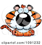 Clipart Cute Tiger Royalty Free Vector Illustration by Cory Thoman