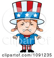 Clipart Mad Uncle Sam Girl Royalty Free Vector Illustration