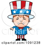Clipart Mad Uncle Sam Boy Royalty Free Vector Illustration