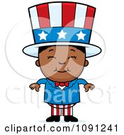 Clipart Happy Black Uncle Sam Boy Royalty Free Vector Illustration