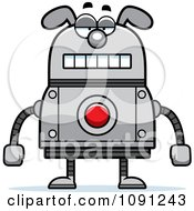 Clipart Bored Dog Robot Royalty Free Vector Illustration by Cory Thoman
