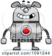 Clipart Dumb Dog Robot Royalty Free Vector Illustration by Cory Thoman