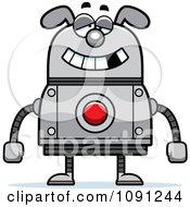 Clipart Dumb Dog Robot Royalty Free Vector Illustration