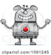 Clipart Evil Dog Robot Royalty Free Vector Illustration by Cory Thoman