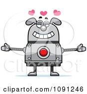 Clipart Loving Dog Robot Royalty Free Vector Illustration