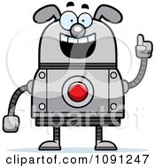 Clipart Smart Dog Robot Royalty Free Vector Illustration by Cory Thoman