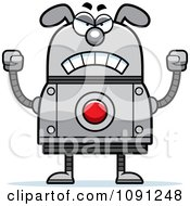 Clipart Mad Dog Robot Royalty Free Vector Illustration by Cory Thoman