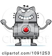 Clipart Evil Robot Cat Royalty Free Vector Illustration by Cory Thoman