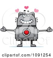 Clipart Loving Robot Cat Royalty Free Vector Illustration by Cory Thoman