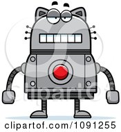 Clipart Bored Robot Cat Royalty Free Vector Illustration by Cory Thoman