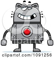 Clipart Dumb Robot Cat Royalty Free Vector Illustration by Cory Thoman
