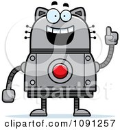Clipart Smart Robot Cat Royalty Free Vector Illustration by Cory Thoman