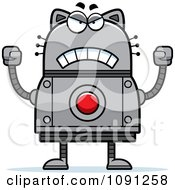 Clipart Mad Robot Cat Royalty Free Vector Illustration by Cory Thoman