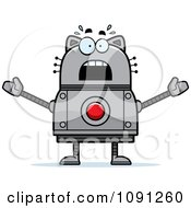 Clipart Scared Robot Cat Royalty Free Vector Illustration by Cory Thoman