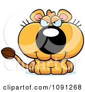 Clipart Cute Evil Lioness Royalty Free Vector Illustration by Cory Thoman