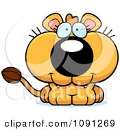 Clipart Cute Lioness Royalty Free Vector Illustration