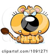 Clipart Cute Mad Lioness Royalty Free Vector Illustration by Cory Thoman