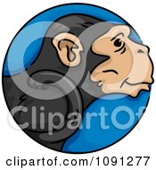 Clipart Year Of The Monkey Chinese Zodiac Circle Royalty Free Vector Illustration by BNP Design Studio