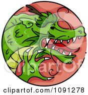 Clipart Year Of The Dragon Chinese Zodiac Circle Royalty Free Vector Illustration