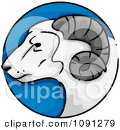 Clipart Year Of The Goat Chinese Zodiac Circle Royalty Free Vector Illustration by BNP Design Studio