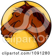 Clipart Year Of The Horse Chinese Zodiac Circle Royalty Free Vector Illustration