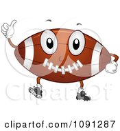 Clipart Football Character Holding A Thumb Up Royalty Free Vector Illustration by BNP Design Studio