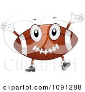 Football Character Cheering