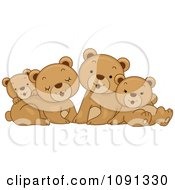 Clipart Cute Bear Family Royalty Free Vector Illustration