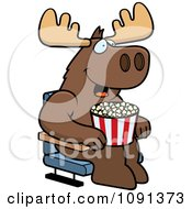 Clipart Happy Cat With Popcorn At The Movie Theater Royalty Free Vector Illustration by Cory Thoman