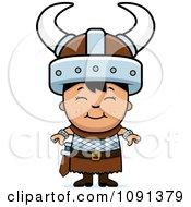 Clipart Happy Asian Viking Boy Royalty Free Vector Illustration