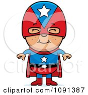 Clipart Happy Asian Super Boy Royalty Free Vector Illustration