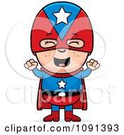 Happy Super Boy Cheering