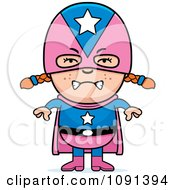 Clipart Mad Super Girl Royalty Free Vector Illustration by Cory Thoman
